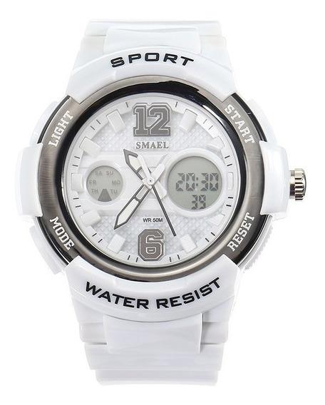 Relógio Pulso Eletrônico Multifuncional Casual Esporte Smael