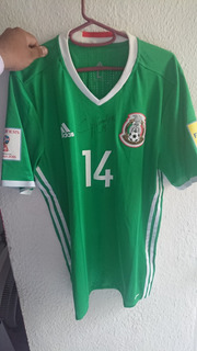 Camisa Seleccion Mexicana Usada Y Firmada Por Chicharito