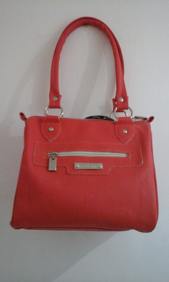Cartera Bolso Color Salmon Con Etiqueta Huitral