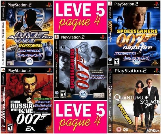 James Bond 007 Coleção 5 Jogos Ps2 Patch