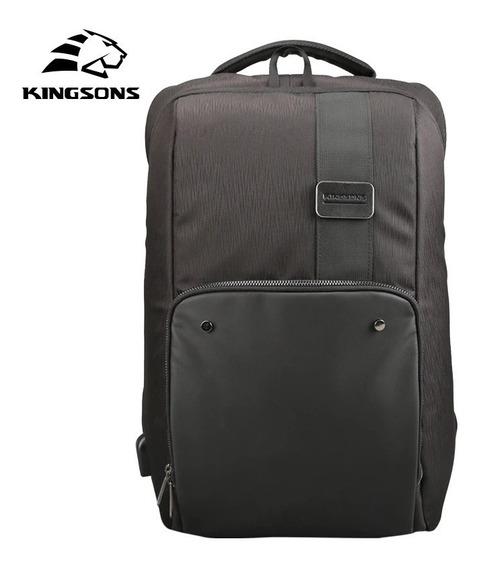 Mochila Kingsons Multi-função Para Laptop Até 15.6 / Usb