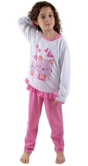 Pijama Longo Infantil | Melhor Preço | Roupas De Menina 185