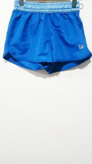 Short Wilson Mujer Azul Celeste
