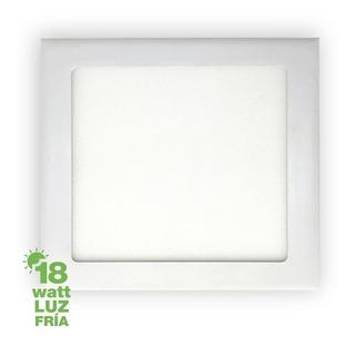 Plafón Luminaria Panel Luz Led 18w Cuadrada Para Empotrar