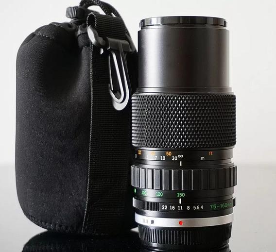 Lente Zuiko Olympus Om75-150 F4.0 + Adaptador Sony E-mount