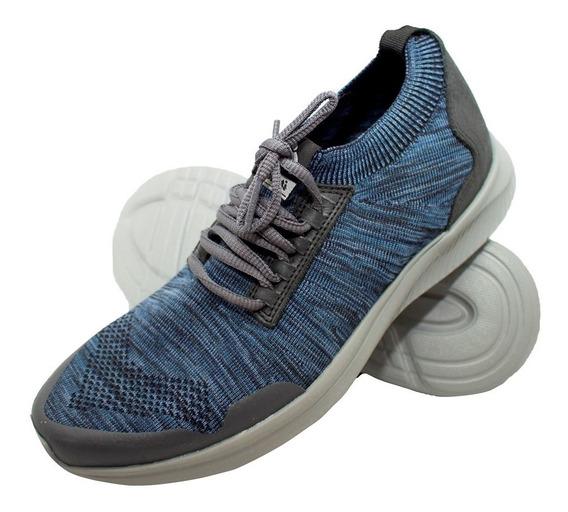 Tênis Malha Italeoni Knit Azul
