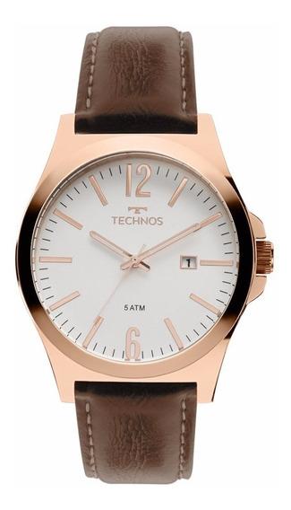 Relógio Technos Masculino Classic 2115mmu/5b Couro Marrom