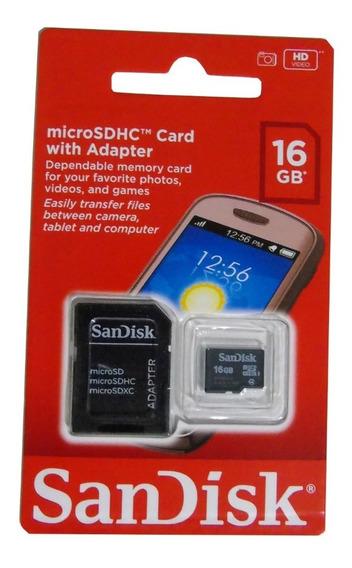 10 Cartão De Memória Sd Sandisk 100% 16gb Atacado Revenda