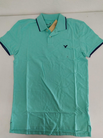 Playera Tipo Polo American Eagle Hombre Small