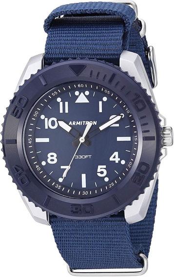 Armitron Hombre 20/5417nvy Reloj Análogo Correa Nylon