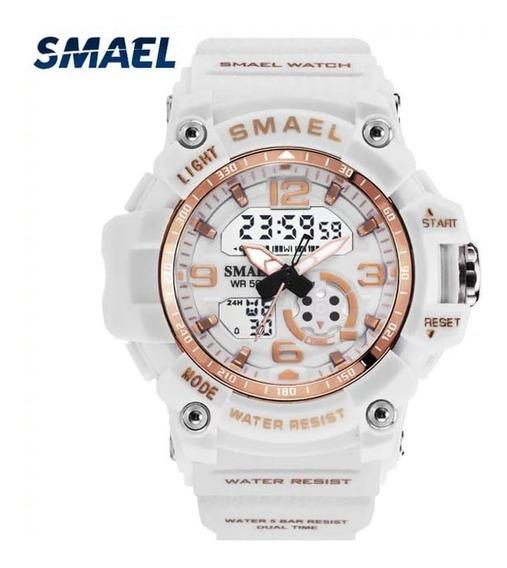 Relógio Smael 1808 Digital Analógico Digital Caixa Pequena