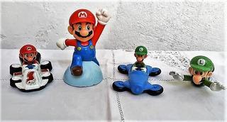 4 Muñecos Colección Mac Donald Mario Bross 2016 - 2018
