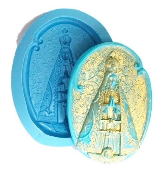 Nossa Senhora Oval Molde De Silicone Sabonete Biscuit Resina