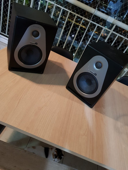 Monitor De Estúdio (par)- Samson Resolv A6 - Pouquíssimo Uso