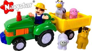 Tractor De La Granja Farm Tractor Navystar Luces Y Sonido