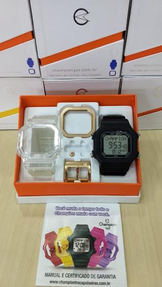 Relógio Champion Yot Cp40180x Original Kit Montado Promo Nf