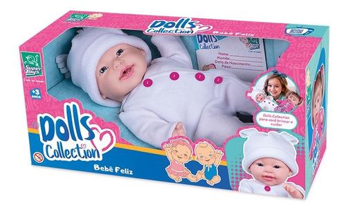 Boneca Dolls Collection Com Sons De Bebê Super Toys 434