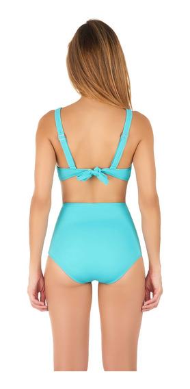 Bikini Calzón Pin Up Reductor Color Turquesa