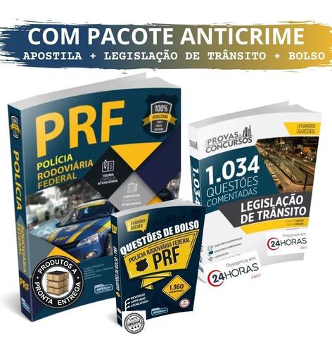 Kit Prf Apostila Com Pacote Anticrime + 2394 Questões