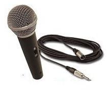 Microfone Com Fio Profissional Banda Karaokê Show Estúdio