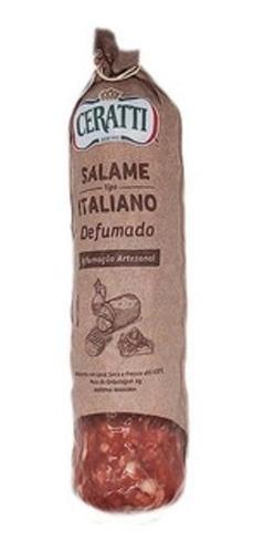 Imagem 1 de 3 de Salame Ceratti Italiano Defumado Artesanal 550g.