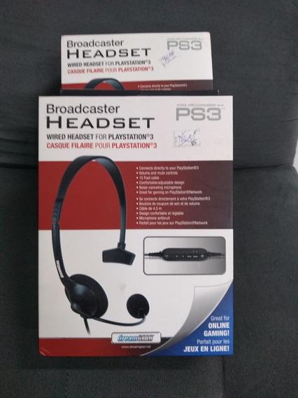 Fone De Ouvido Com Microfone E Conexão P/ Ps3 - Dgps3-3828