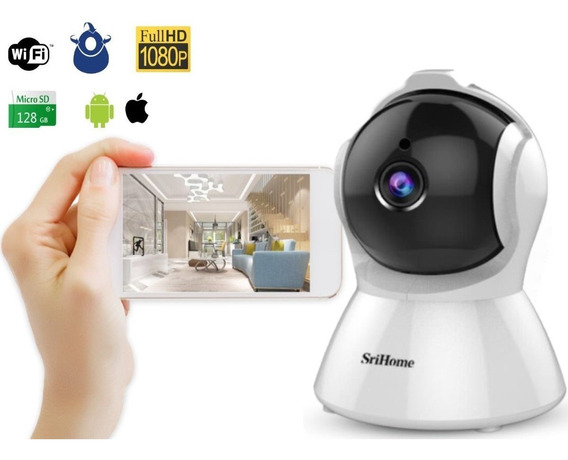Camara Inalambrica Wifi Ip Robot Full Hd Ptz Hasta 128gb