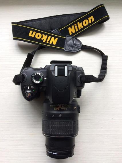 Nikon D60 + Lente 18-55mm + Bolsa + Carregador Original