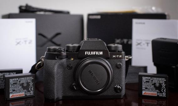 Câmera Fujifilm Xt2 Mirrorless Preta - Na Caixa - 3 Baterias