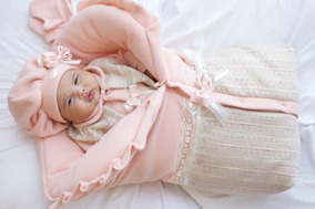 Saida Maternidade De Saco Soft Menina Salmão