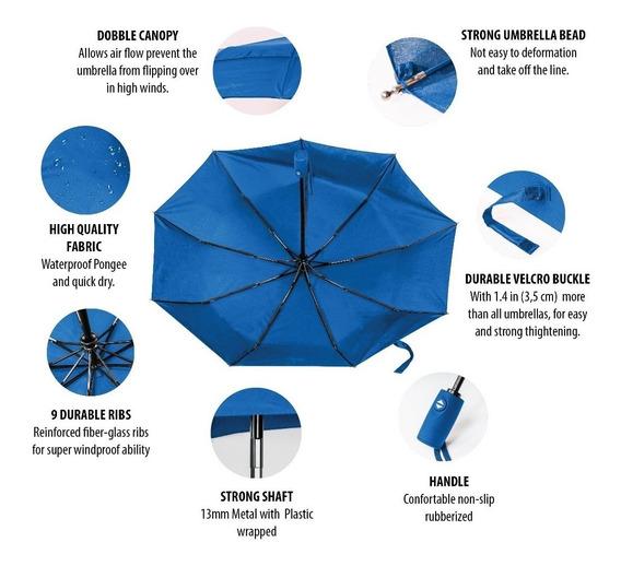 Paraguas Automático Doble Canopy De Alta Resistencia.