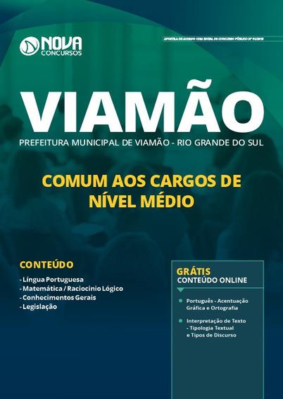 Apostila Prefeitura De Viamão Rs 2019 Cargos De Nível Médio