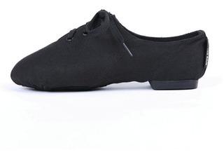 Zapatillas De Jazz Lona Negra