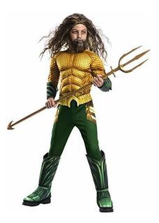 Rubie S Boys Aquaman Pelicula Disfraz Infantil De Lujo Media