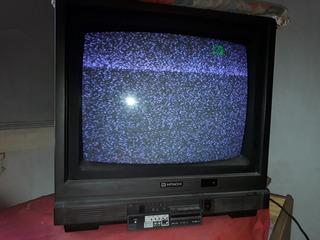 Tv Color Hitachi 20 Funcionando Con Control Remoto Sin A/v
