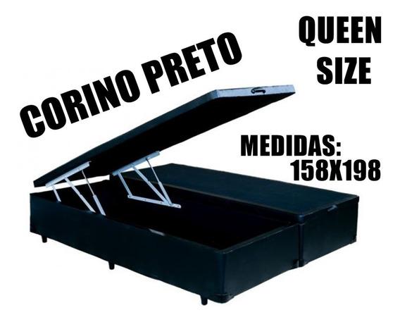 Cama Box Bau Queen Corino 158x198 Promoção Aproveite