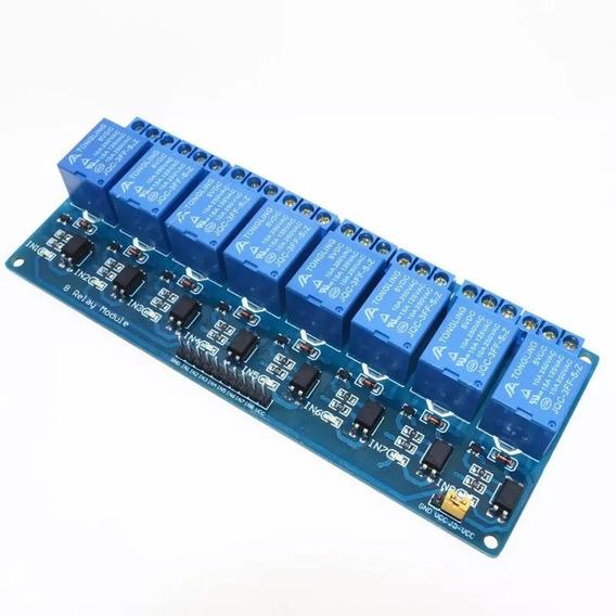5x Módulo Relé Arduino 8 Canais 5v 10a
