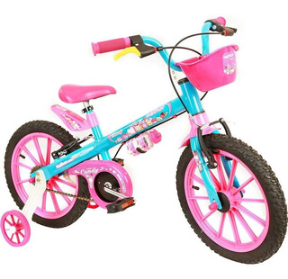 Bicicleta Infantil Nathor Aro16 Menina Candy De 5 A 8 Anos