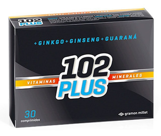 102 Plus Vitaminas Y Minerales Ginko Ginseng Guarana 30 Comp