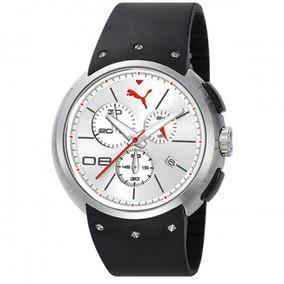 Relógio Puma Masculino Aço Com Silicone Preto 96151g0pmnu3