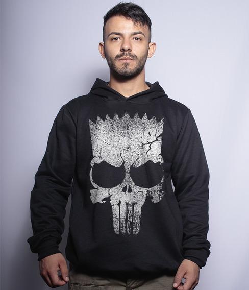 Casaco De Moletom Com Capuz Punisher Bart
