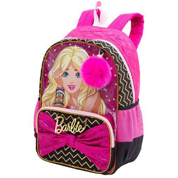 Mochila Infantil Barbie Costas Pingente Origina Pronta Entre