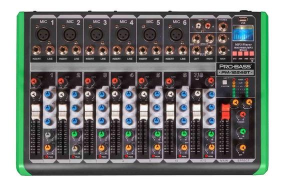 Mesa De Som 8 Canais Probass Com Bluetooth Melhor Que 1204fx