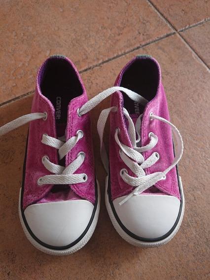 Zapatillas Converse Nena Original Lila Rosa Nuevas