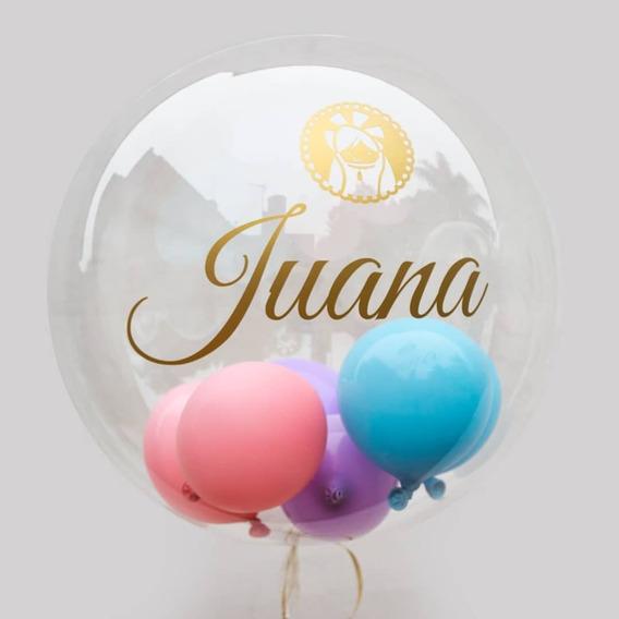 Globo Burbuja Encapsulados Burbuja Cristal Bubble Helio