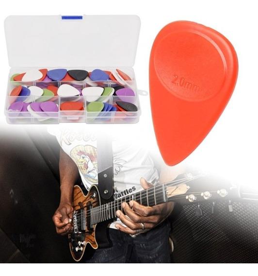 Kit 12 Palhetas 2mm - Baixo, Baixolão, Guitarra, Violão...