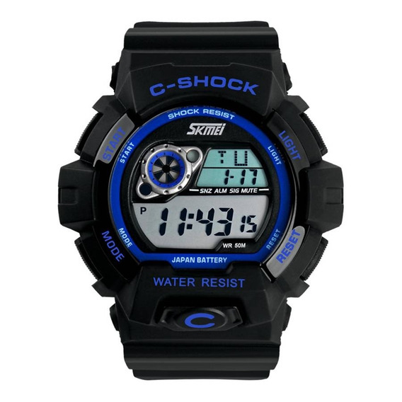 Relógio Masculino Skmei Digital 1007 Azul Horas