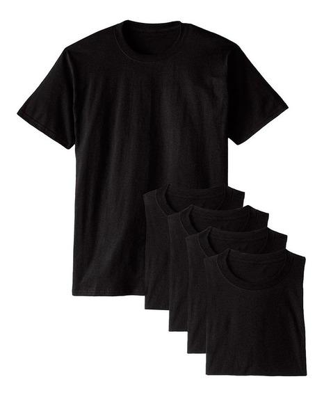 Kit 5 Camisetas Básicas Masculina T-shirt Algodão Preta Tee