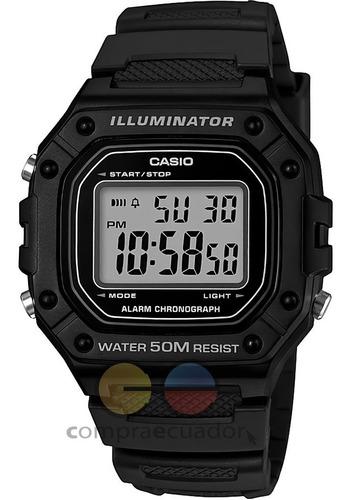 Casio Reloj Digital Resisten Al Agua 5 Bar Luz Led Resina
