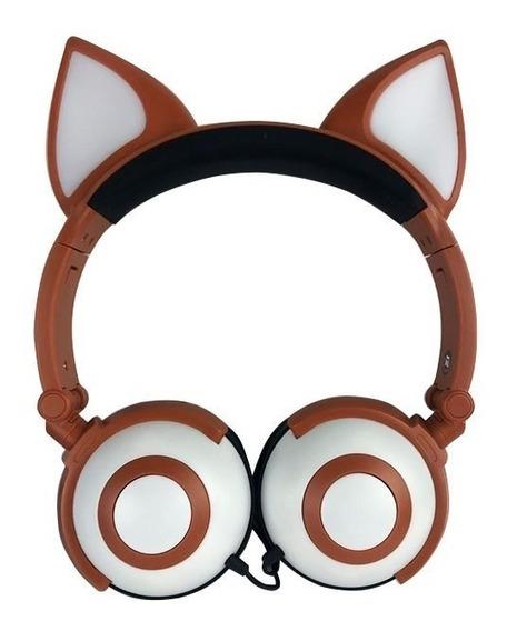 Fone Cat Orelhas De Gato Com Led P2 Cosplay Design Promoção